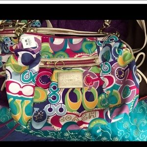 Coach jazzy 2pc crossbody full wallet purse set